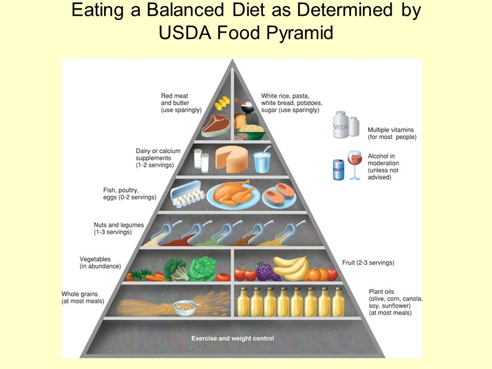 Eating a Balanced Diet as Determined by USDA Food Pyramid