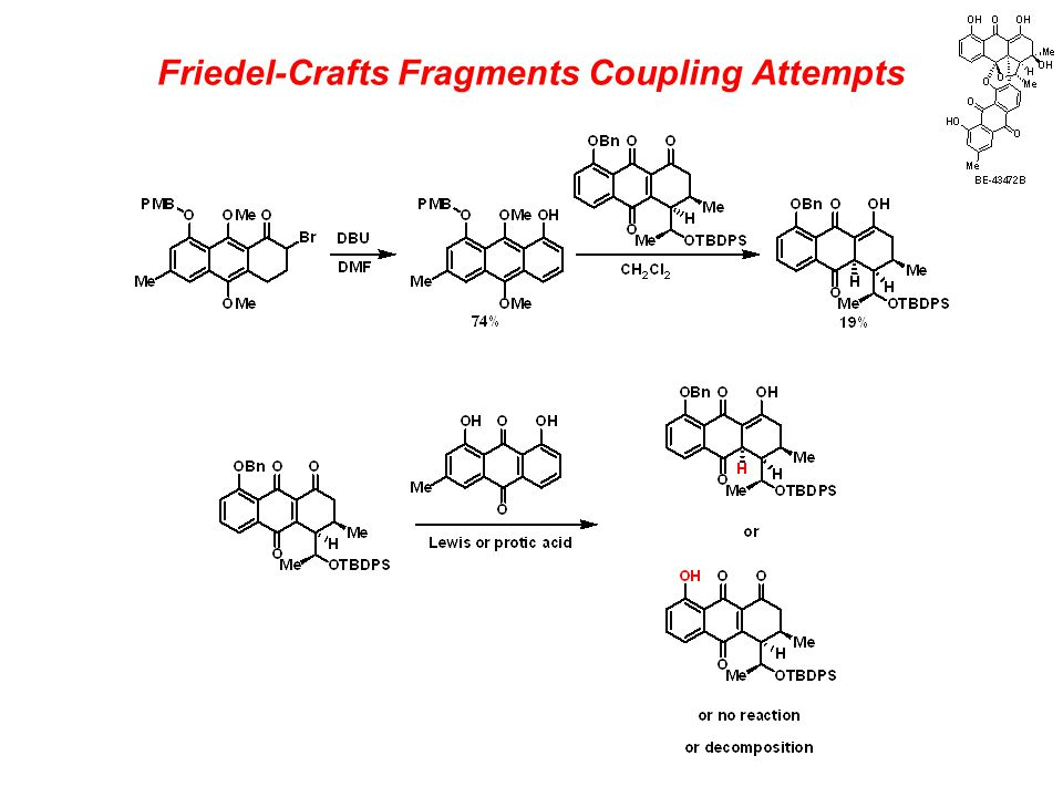 Friedel-Crafts Fragments Coupling Attempts