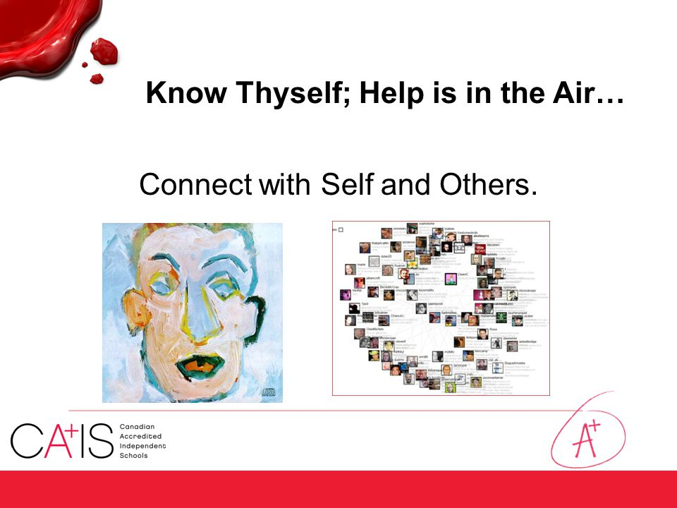 Know Thyself; Help is in the Air… Connect with Self and Others.