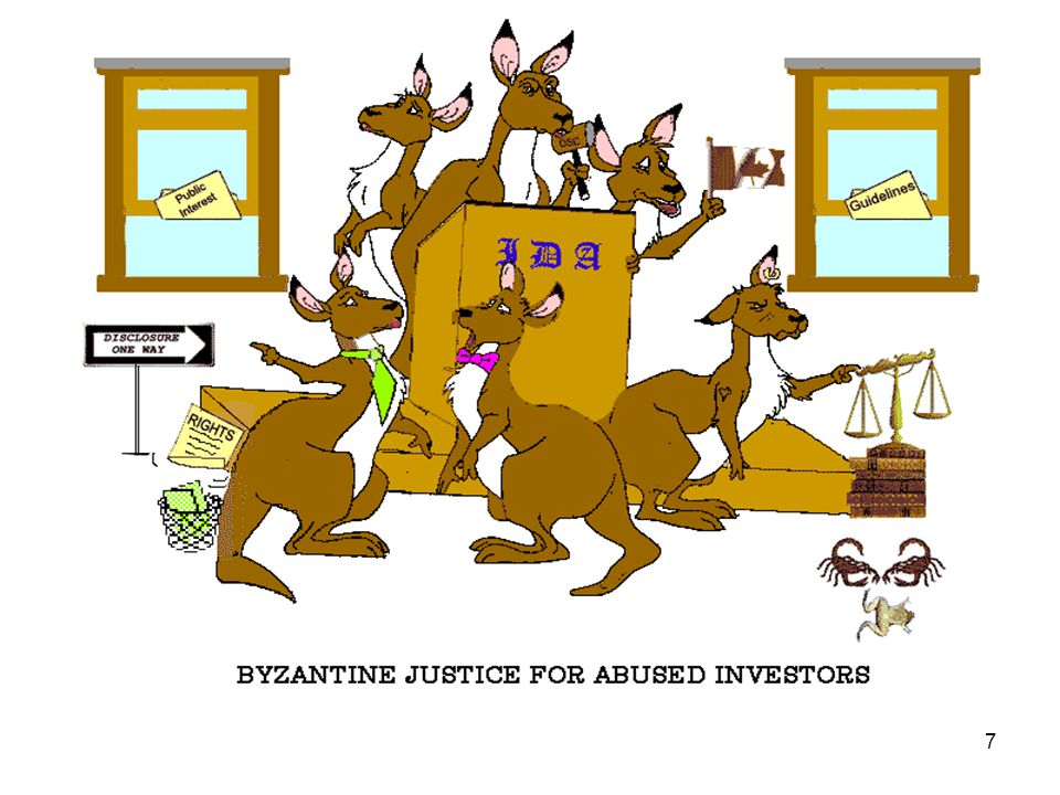 7 BYZANTINE JUSTICE FOR INVESTOR VICTIMS