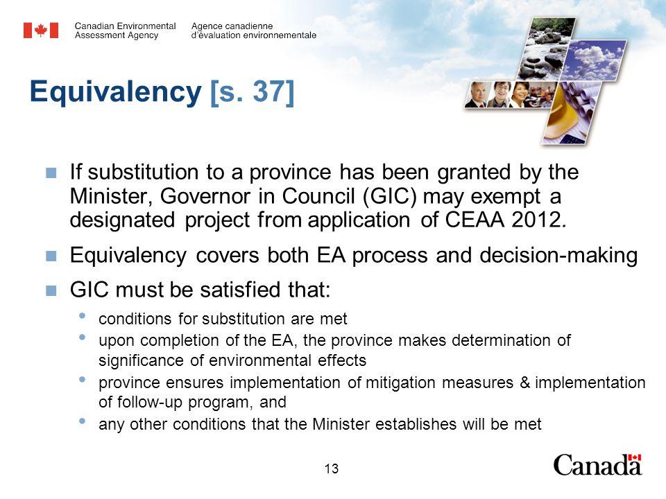 13 Equivalency [s.