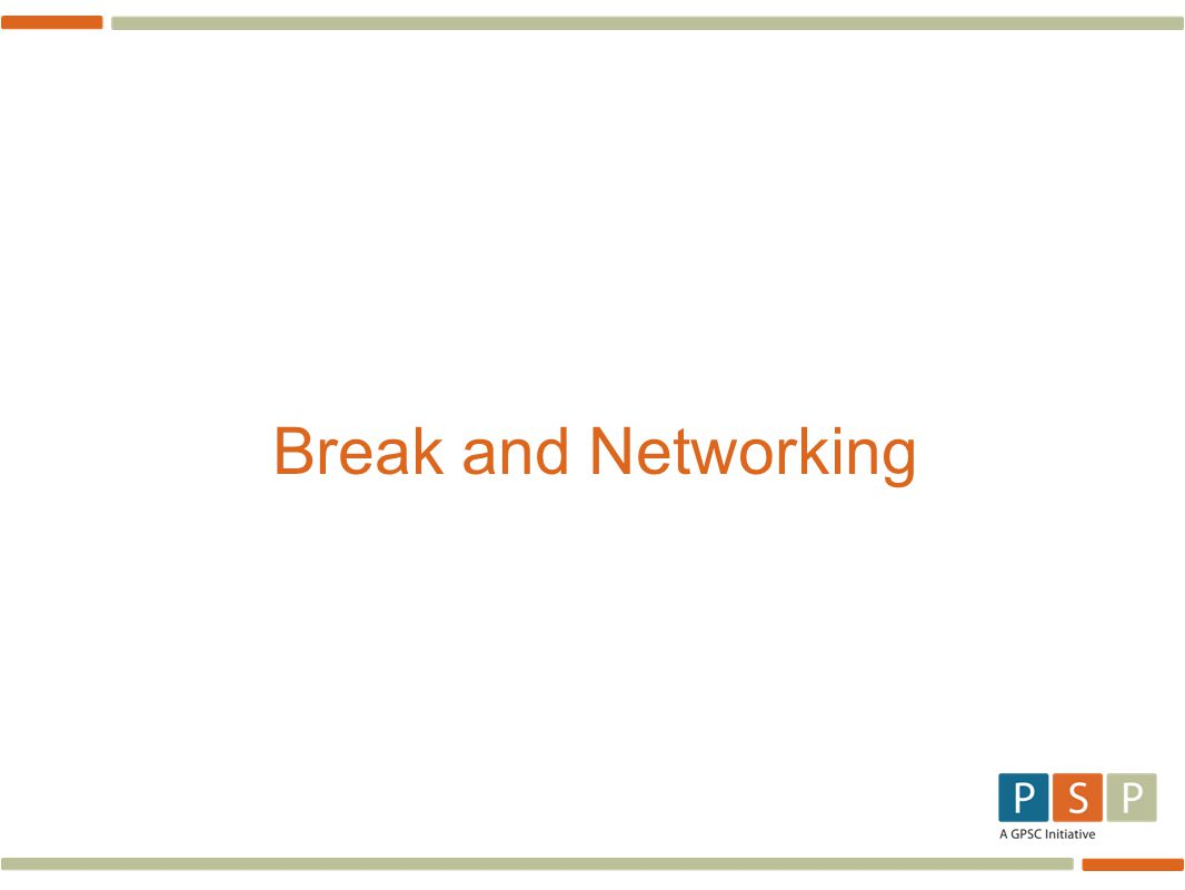 Break and Networking