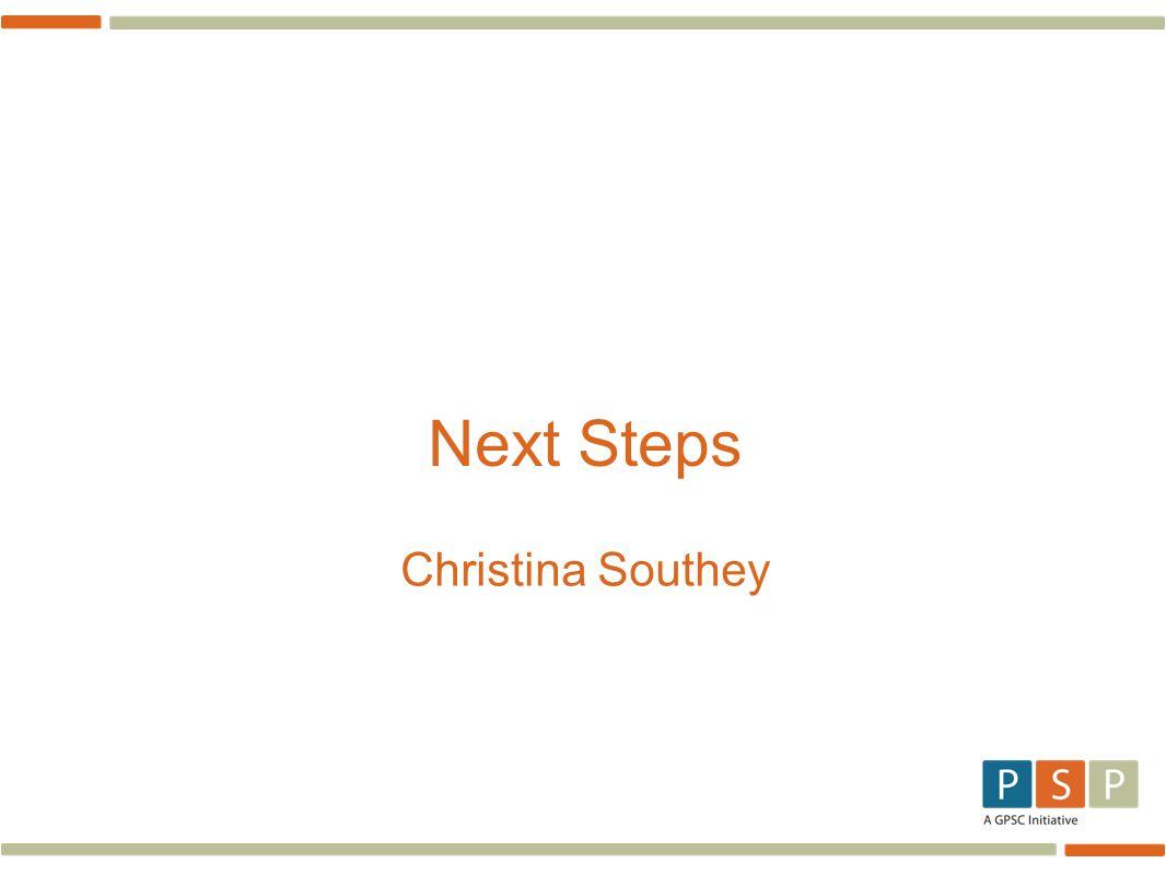 Next Steps Christina Southey