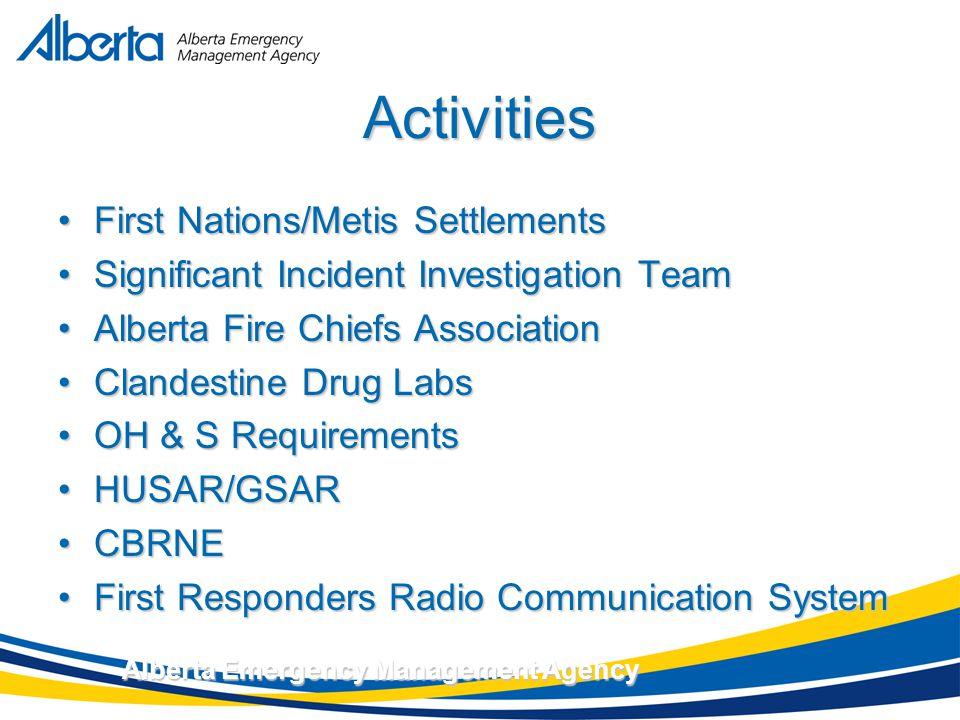 November 17, 2007 Alberta Emergency Management Agency Alberta – A Province Prepared.