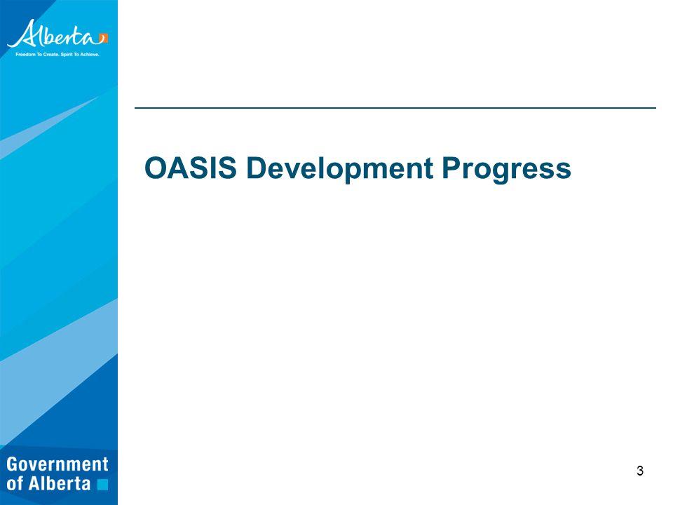 OASIS Development Progress 3