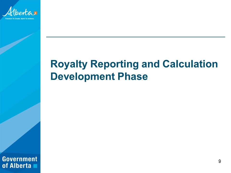 Royalty Reporting and Calculation Development Phase 9