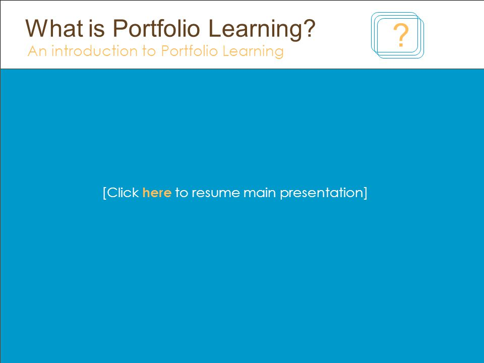 What is Portfolio Learning.