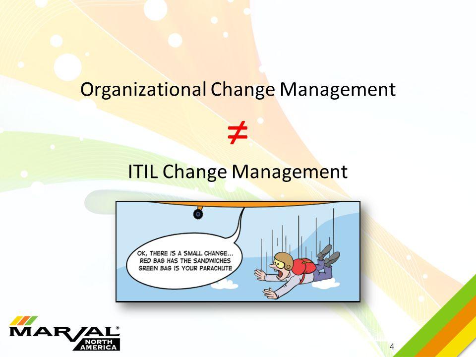 4 Organizational Change Management ≠ ITIL Change Management