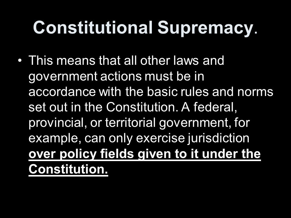 Judicial Review Interpreting the Constitution and settling constitutional conflicts between different political actors.