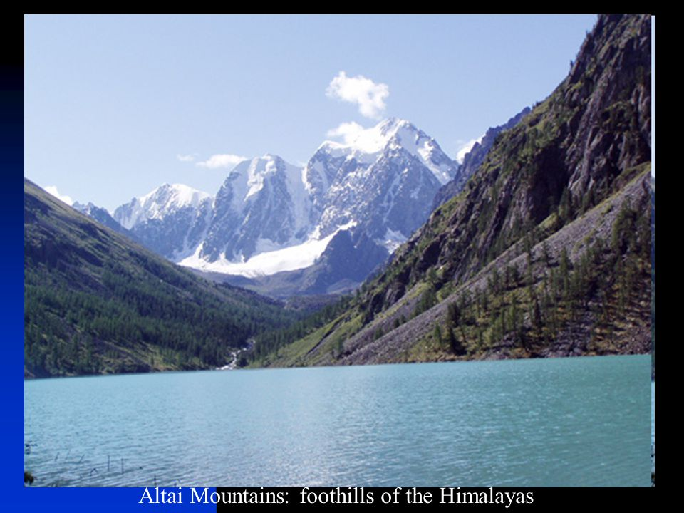 Altai Mountains: foothills of the Himalayas