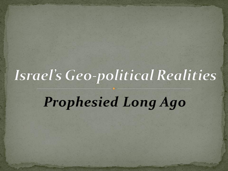 Prophesied Long Ago