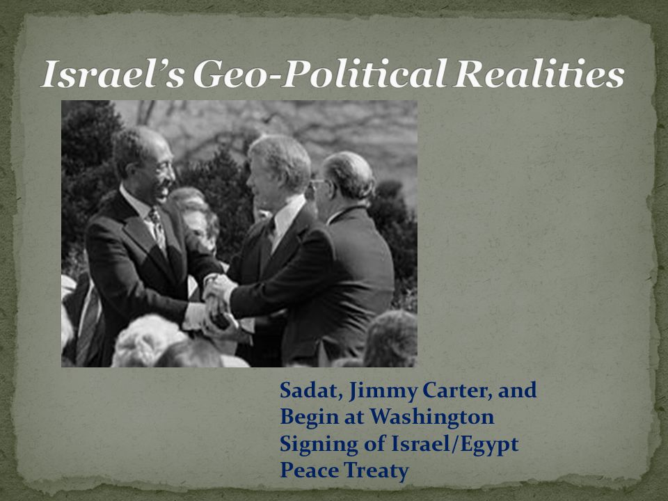 Sadat, Jimmy Carter, and Begin at Washington Signing of Israel/Egypt Peace Treaty