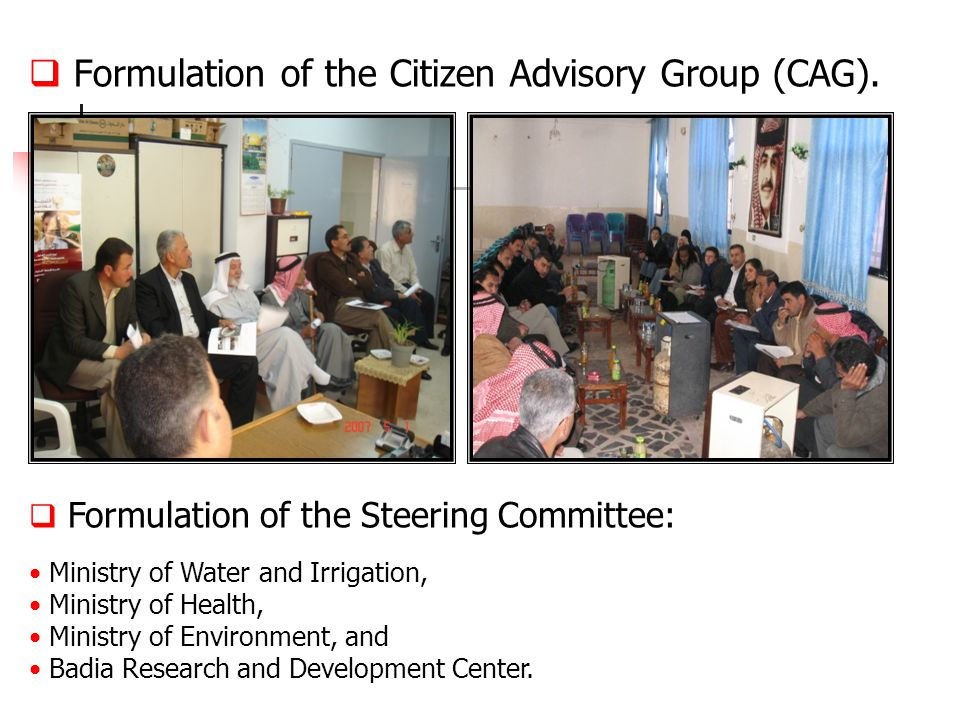  Formulation of the Citizen Advisory Group (CAG).