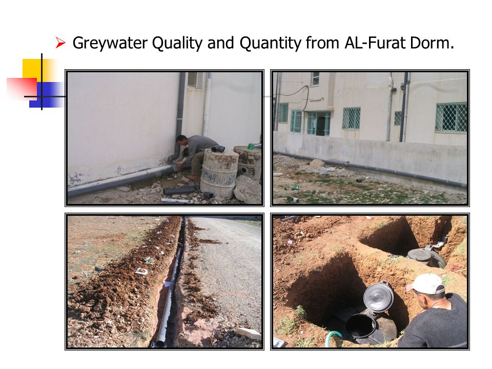  Greywater Quality and Quantity from AL-Furat Dorm.