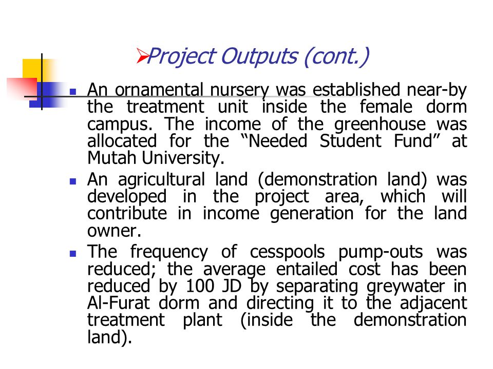 """An ornamental nursery was established near-by the treatment unit inside the female dorm campus. The income of the greenhouse was allocated for the """"Ne"""