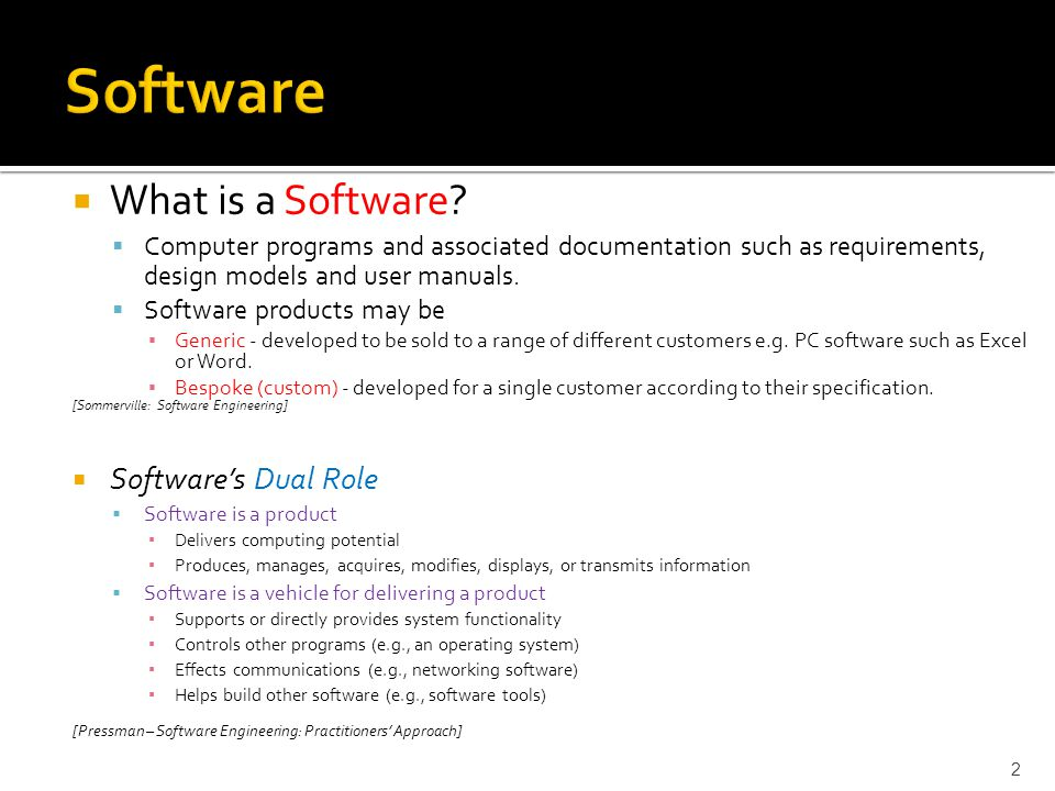  What is a Software.