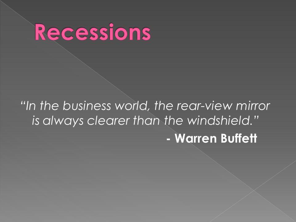 """In the business world, the rear-view mirror is always clearer than the windshield."" - Warren Buffett"