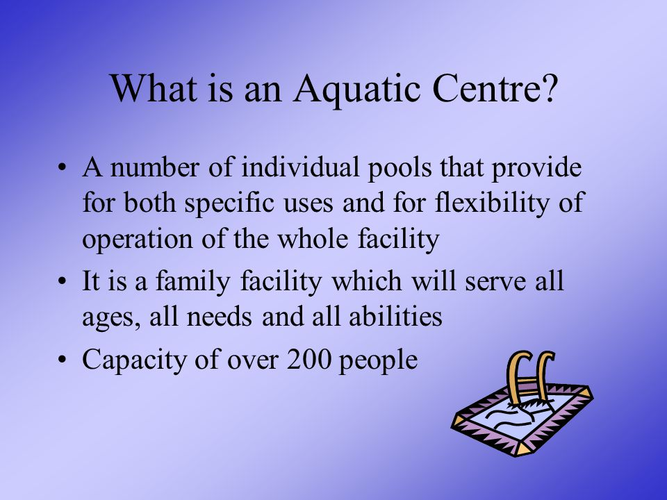 Definition of an Aquatic Centre