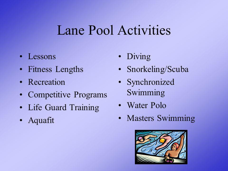 """Lane Pool Details 6 lanes 25 metres long Waveless Built to """"Swim Ontario"""" standards Handicap accessible"""
