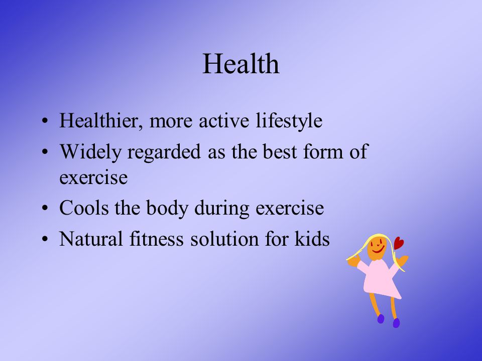 Personal Benefits from a pool Health Educational Recreational Therapeutic Competitive