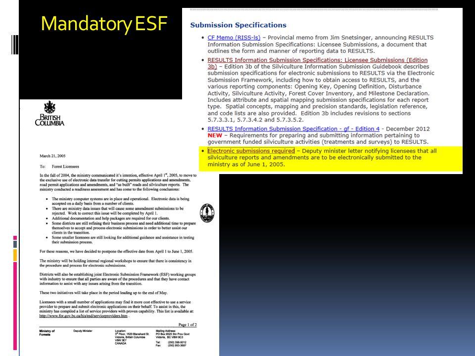 Mandatory ESF