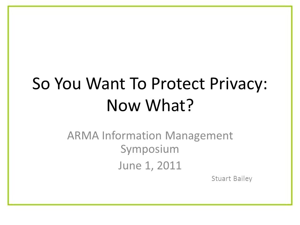 So You Want To Protect Privacy: Now What.