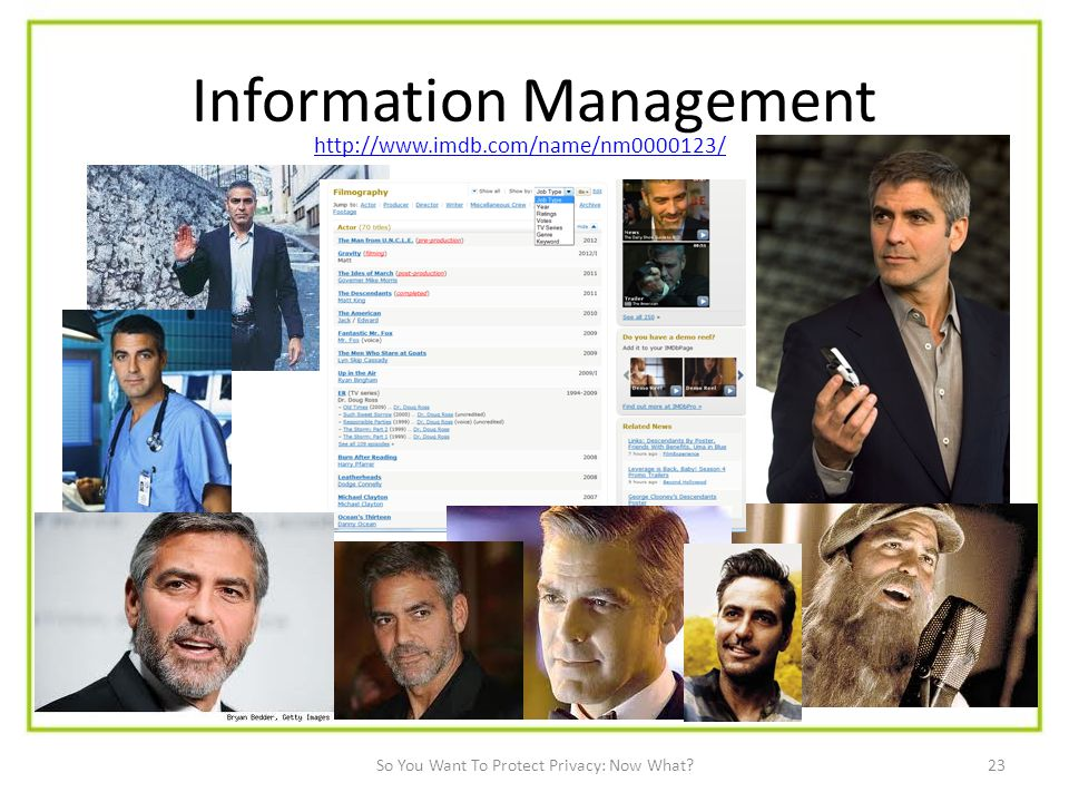 23 Information Management   So You Want To Protect Privacy: Now What