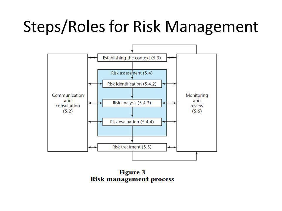 Steps/Roles for Risk Management