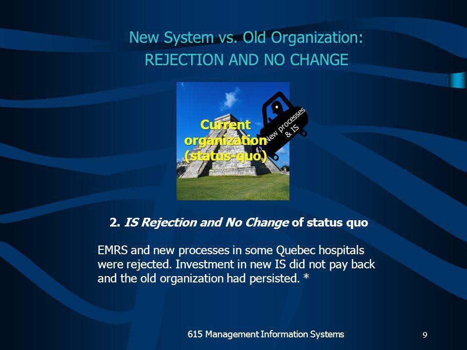 8 1.Change of status-quo In FIS case, corporate accountants influenced decisions on IS design and accounting rules, which undermined the position of management accountants.
