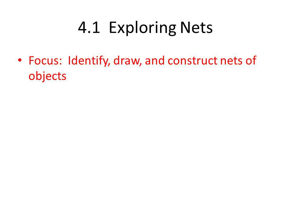 Net – a diagram that can be folded to make an object. Origami folding box.