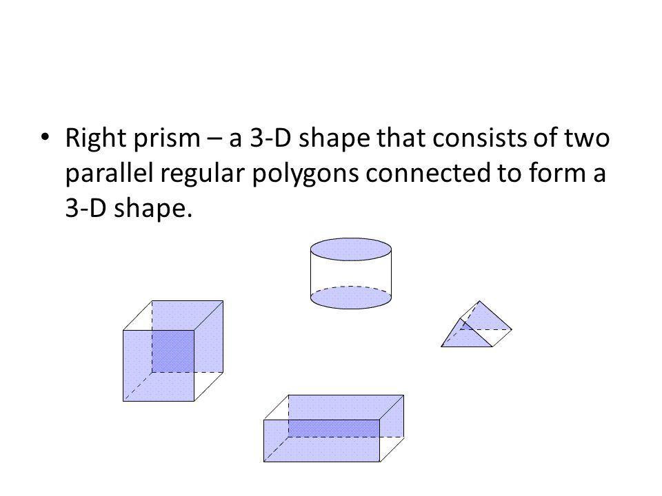 Need nets Cube Rectangular prism Triangular prism Cylinder