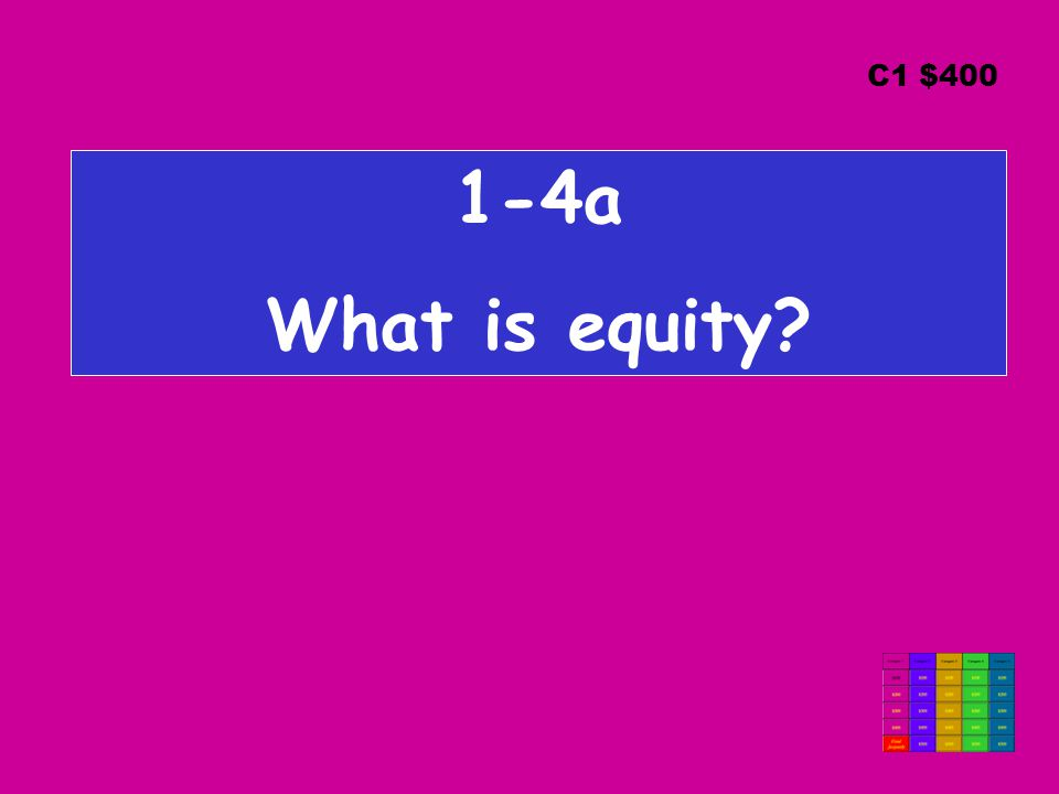 1-4a What is equity C1 $400