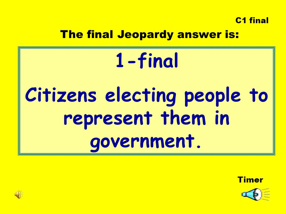 1-final Citizens electing people to represent them in government.