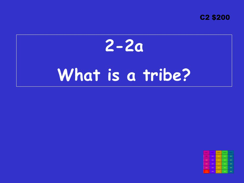C2 $ a What is a tribe