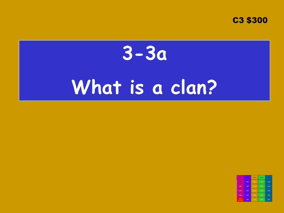 C3 $ a What is a clan