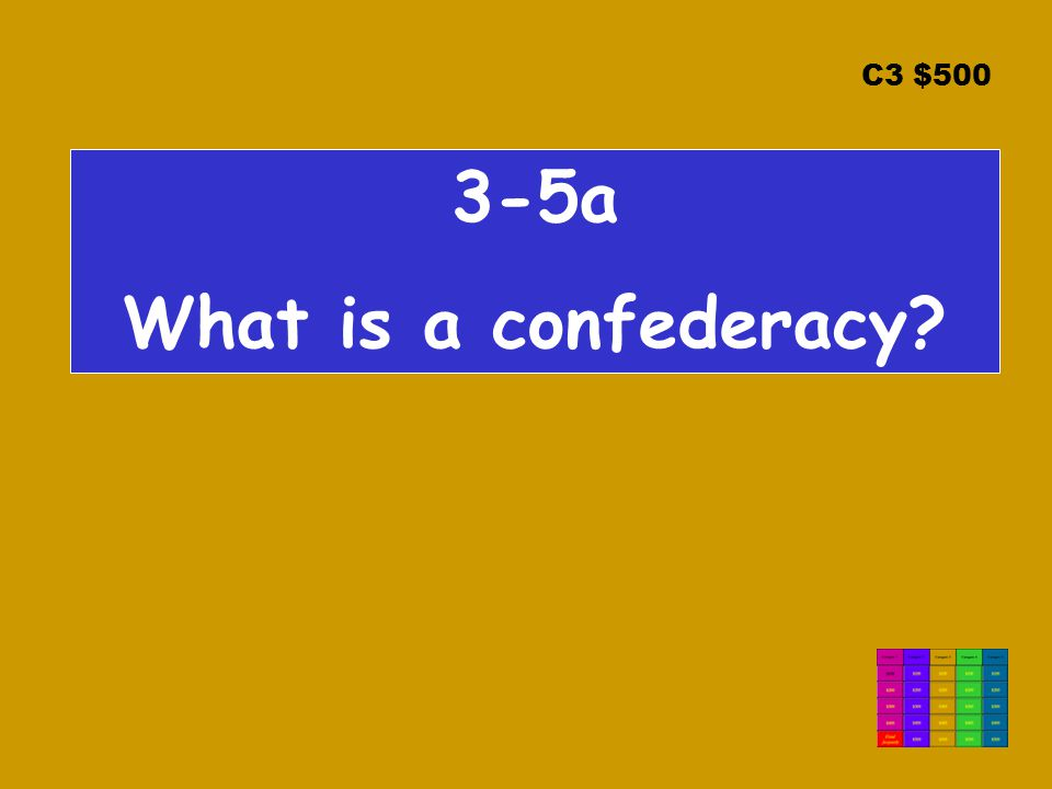 C3 $ a What is a confederacy