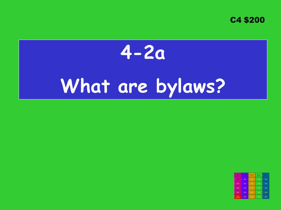 C4 $ a What are bylaws