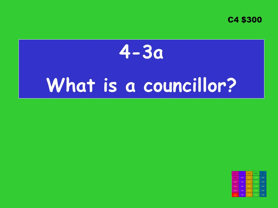 C4 $ a What is a councillor
