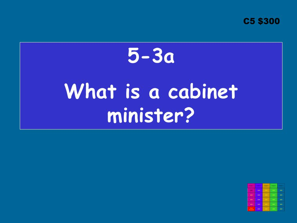 C5 $300 5-3a What is a cabinet minister?