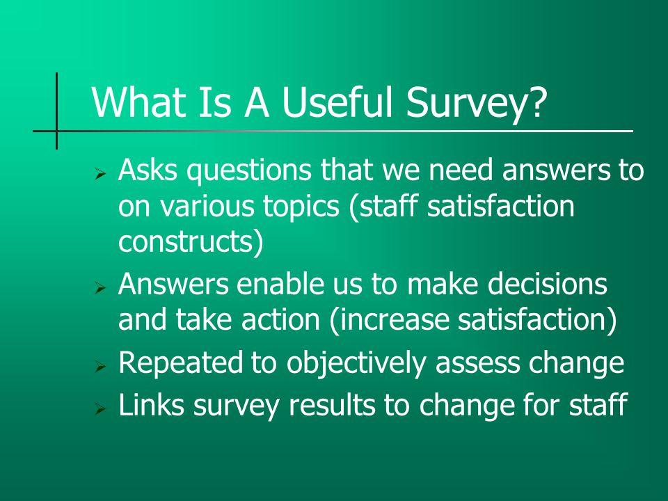 Survey Development Steps  1.Research job satisfaction constructs  2.