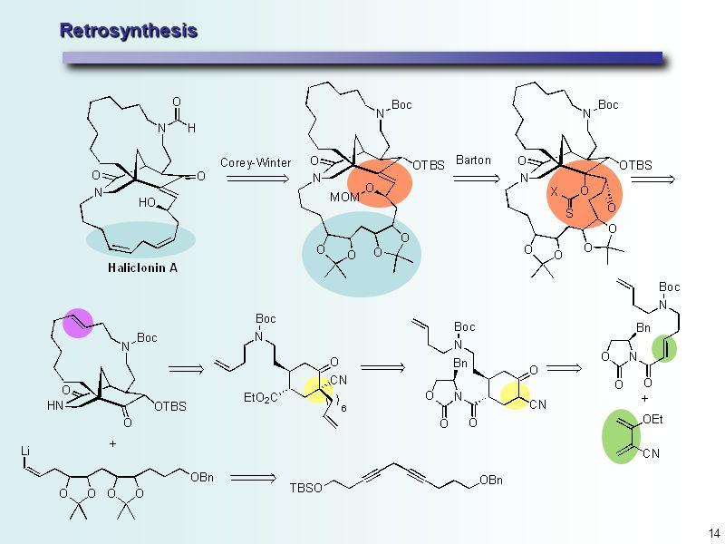 14 Retrosynthesis