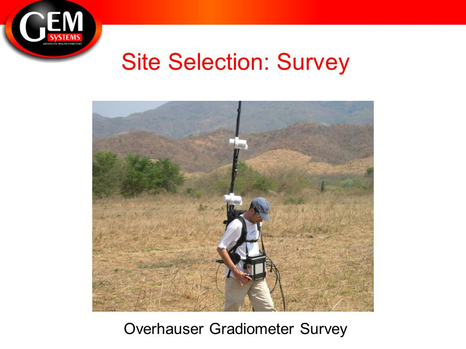 Site Selection: Survey Overhauser Gradiometer Survey
