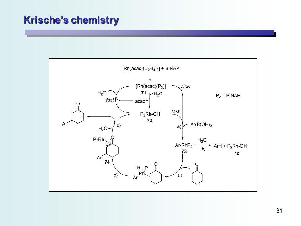 31 Krische's chemistry