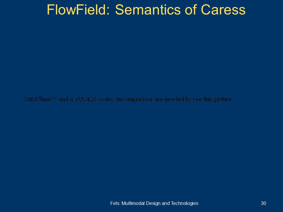 Fels: Multimodal Design and Technologies 30 FlowField: Semantics of Caress