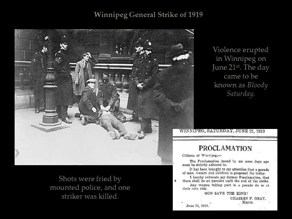 Winnipeg General Strike of 1919 H.A.