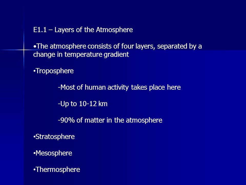 E4.2 – Ozone Depletion (N 2 O) Most nitrogen oxides formed in the troposphere are sufficiently reactive that are used up in chemical reactions, such as those which produce smog, or acid rain.