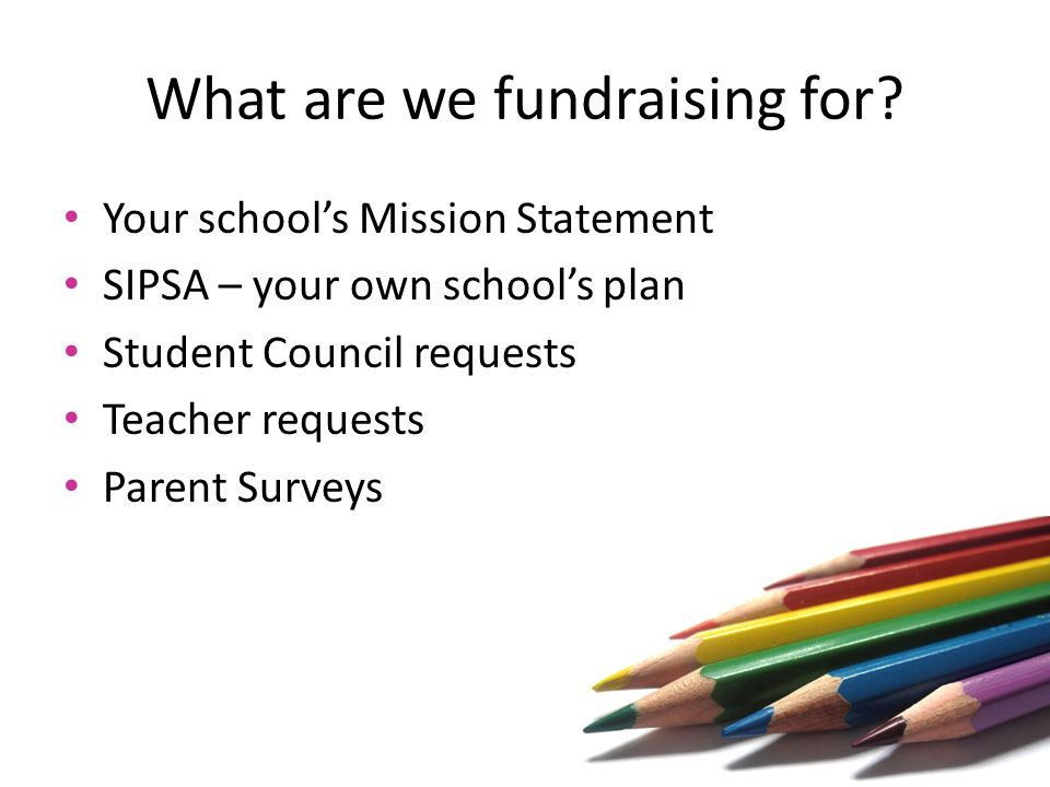 What are we fundraising for.