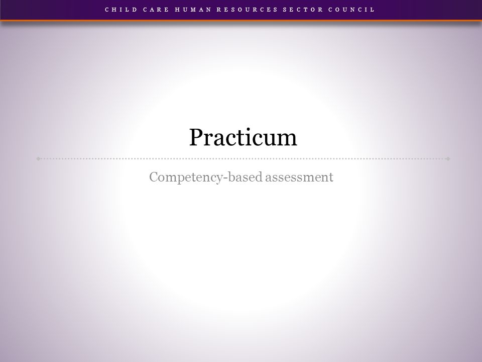 Practicum Competency-based assessment