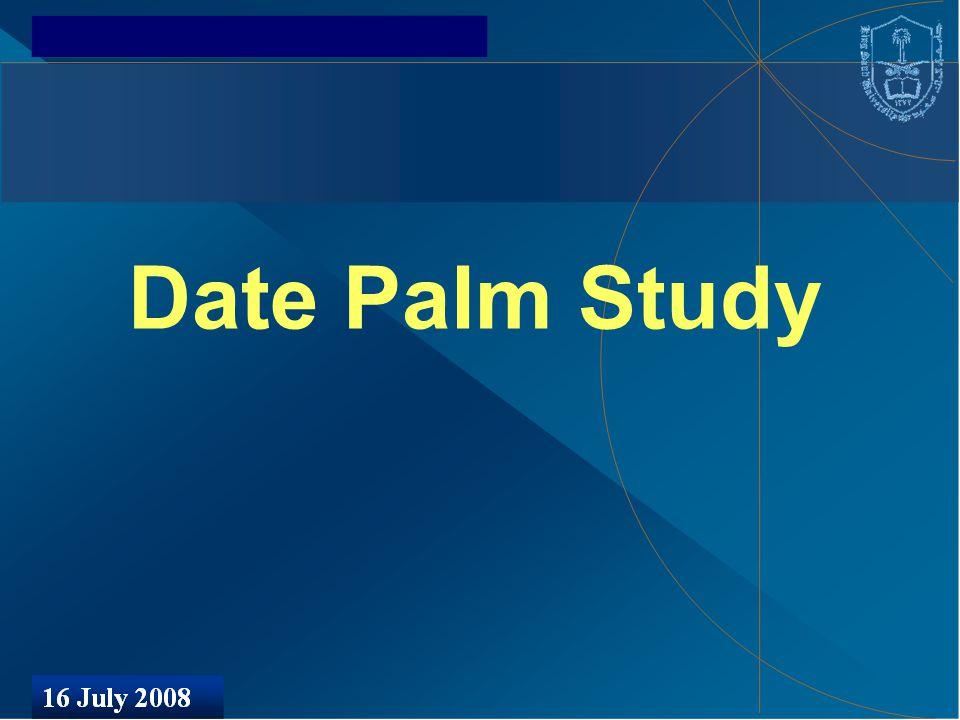 Date Palm Study