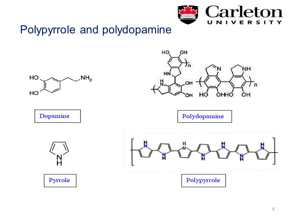 Polypyrrole and polydopamine 8